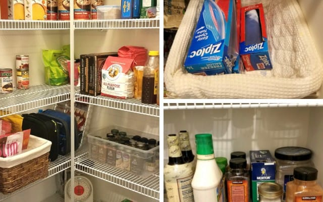 how to organize your pantry on a budget