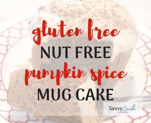 gluten free nut free pumpkin spice mug cake