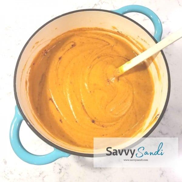 Roasted Bell Pepper Sweet Potato Soup