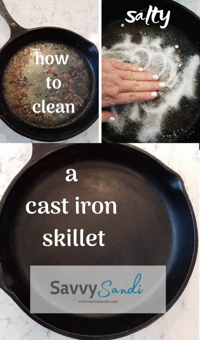 HOW TO CLEAN A CAST IRON SKILLET. Cast Iron Skillet Care.