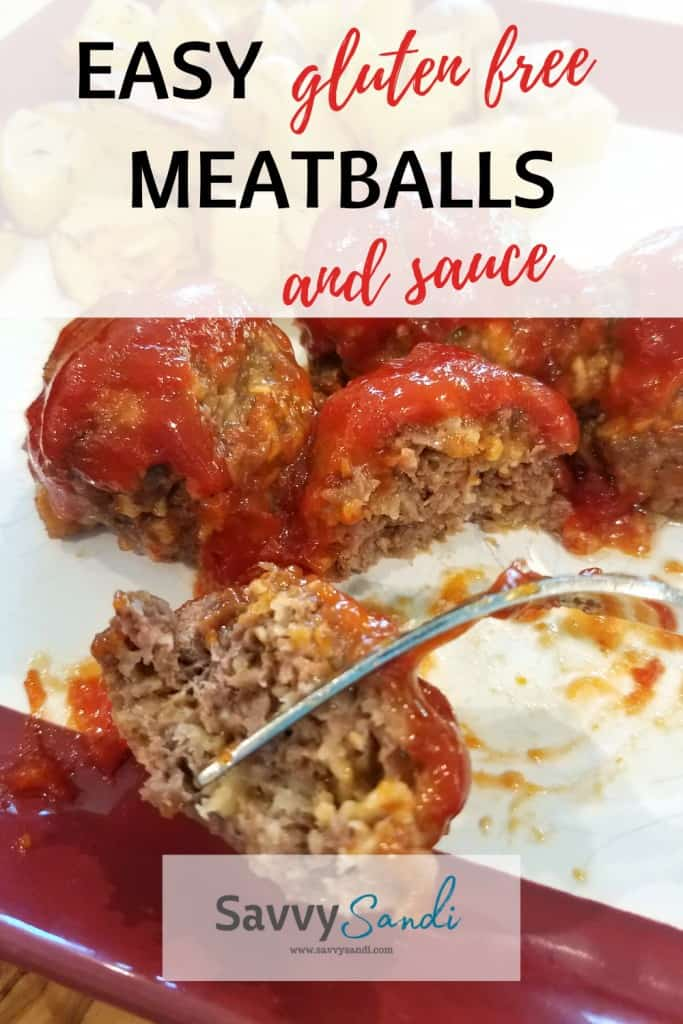 Easy gluten-free meatballs and sauce.